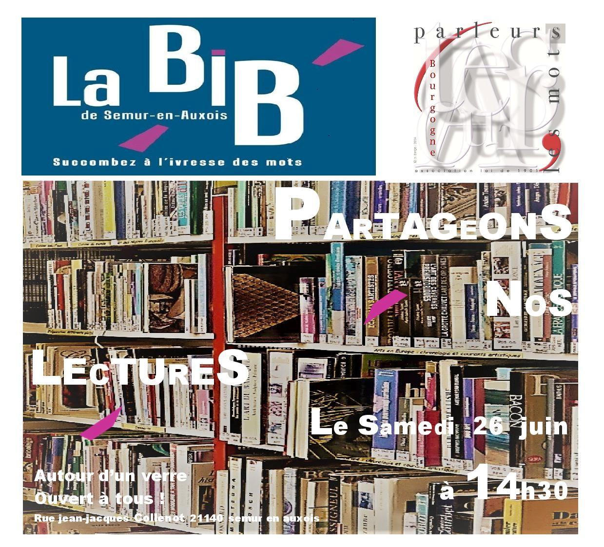 Partageons nos lectures Bibliothèque 26 juin 2021