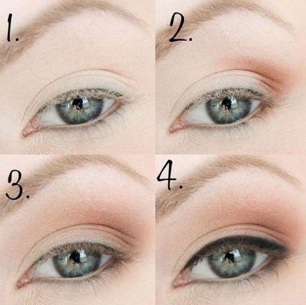 yeux bleus - paupières marrons & liner 003.JPG
