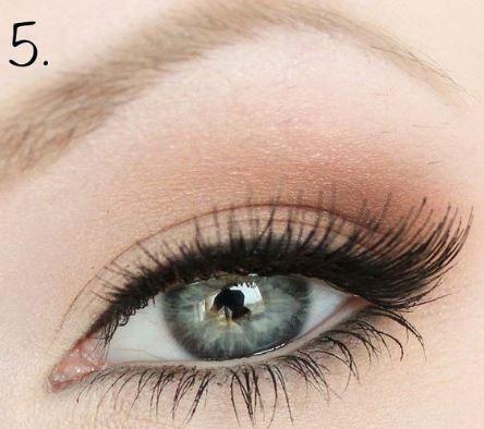 yeux bleus - paupières marrons & liner 004.JPG
