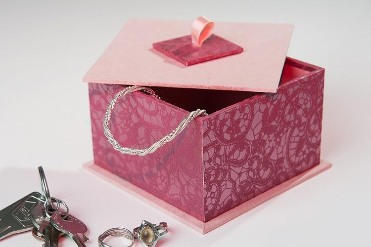 Kit de cartonnage petite bo te carr e cartonnage les - Petite boite allumette a personnaliser ...