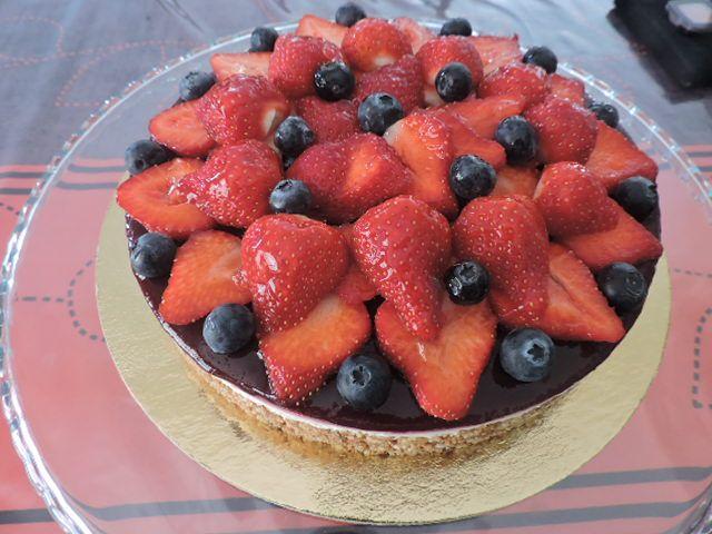 Cheesecake aux fruits de saison