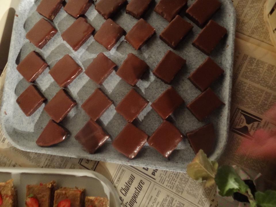 Gâteau cru chocolat