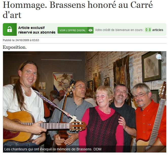 carre d'art Brassens depeche 24-10-09.PNG