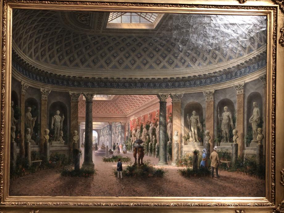 La galerie des sculptures de la Villa Campana au Latran (vers 1847 1851) On a ainsi un petit aperçu de la collection