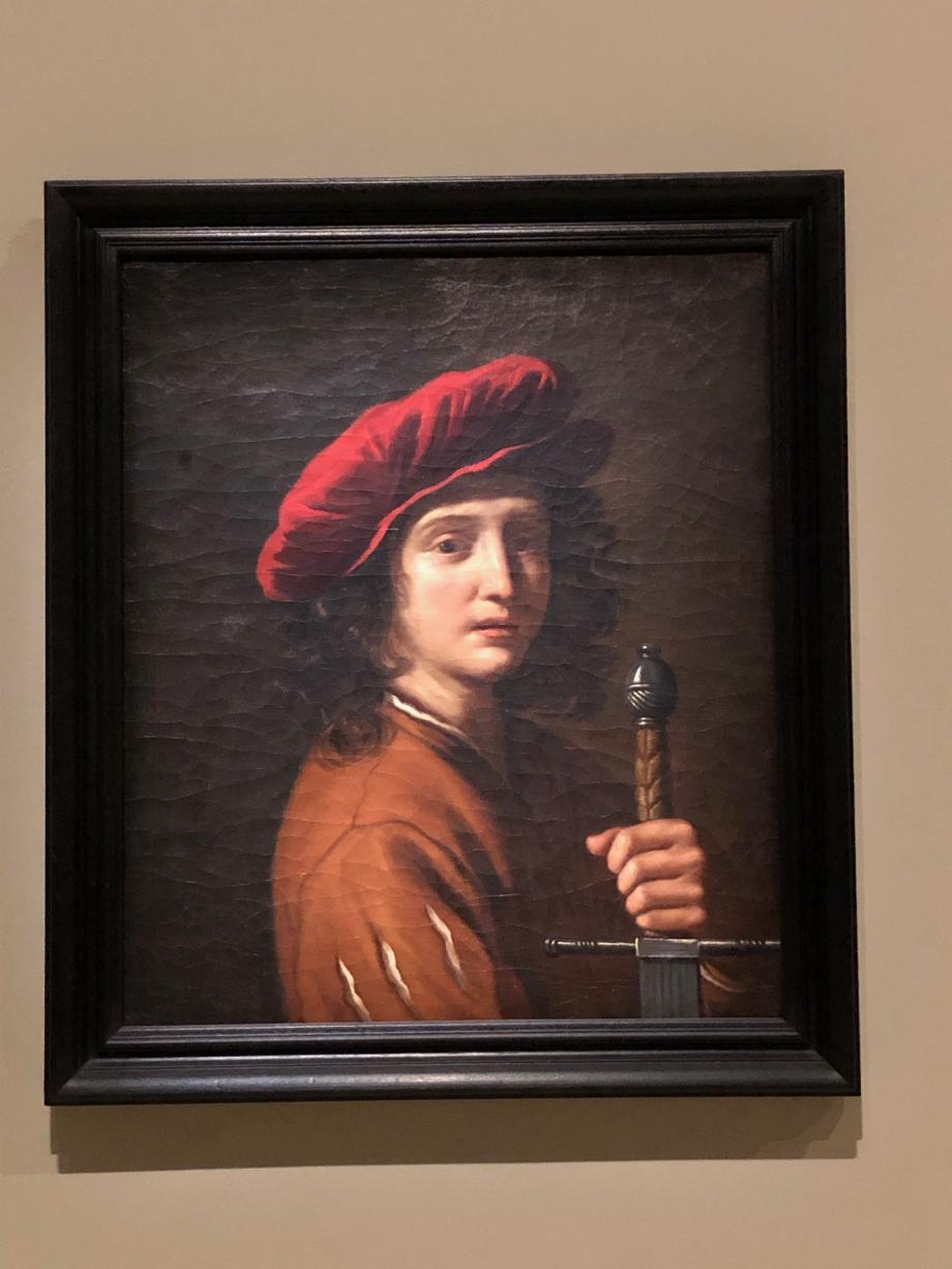 Jeune homme tenant une épée - Cesar Gennari - vers 1670