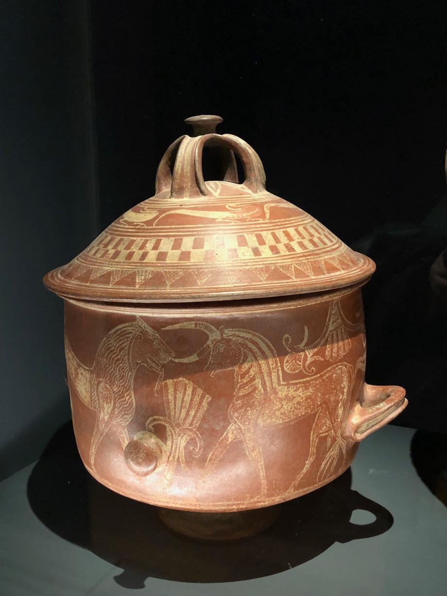 vase primitif de style asiatique