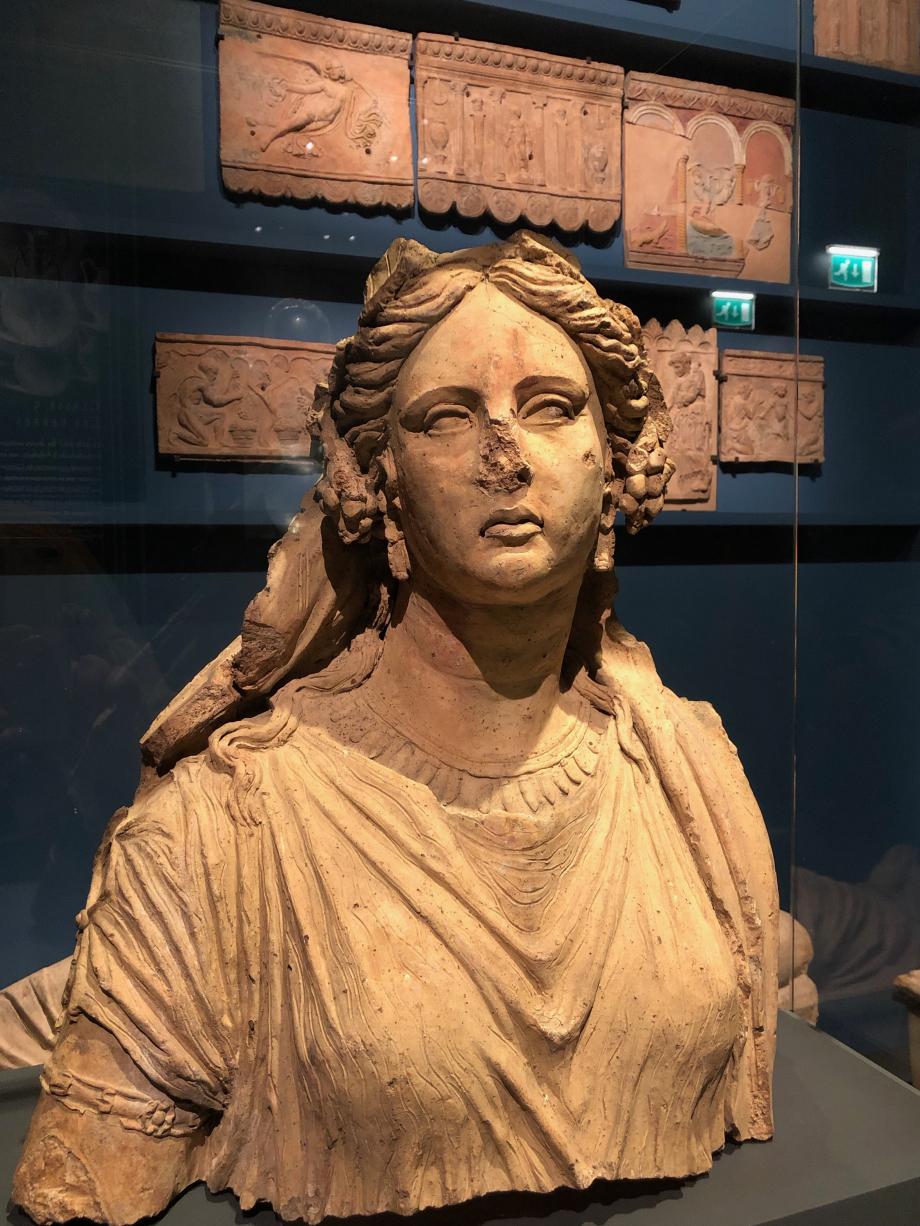 Fragment de statue : buste d'Ariane 300/200 avant JC