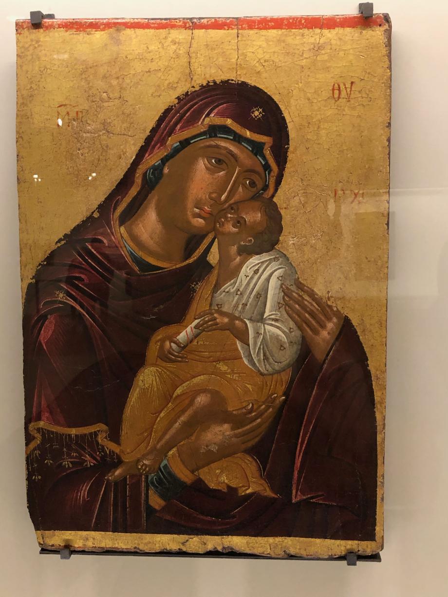 La Vierge et l'Enfant Crète seconde moitié du 15ème siècle  bois, fond d'or