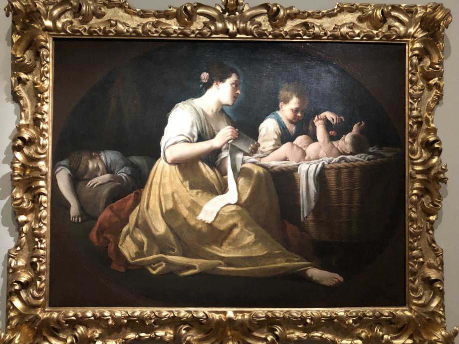Une mère et ses enfants, dit aussi l'Amour maternel Giuseppe Gambarini vers 1715 1725