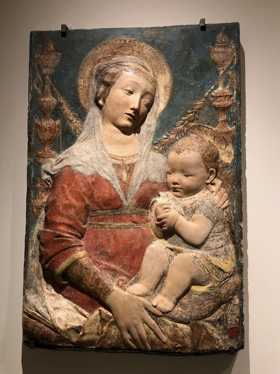 La Vierge et l'Enfant aux candélabres seconde moitié du 15ème siècle