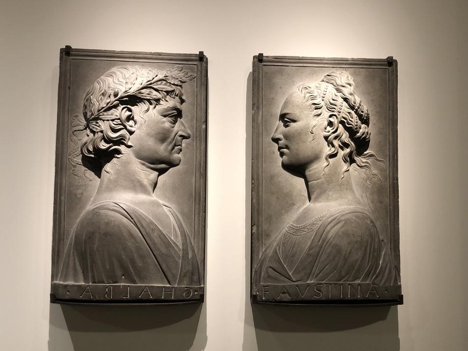 portrait idéal de l'Empereur Galba et portrait idéal de l'Impératrice Faustine l'Ancienne vers 1500