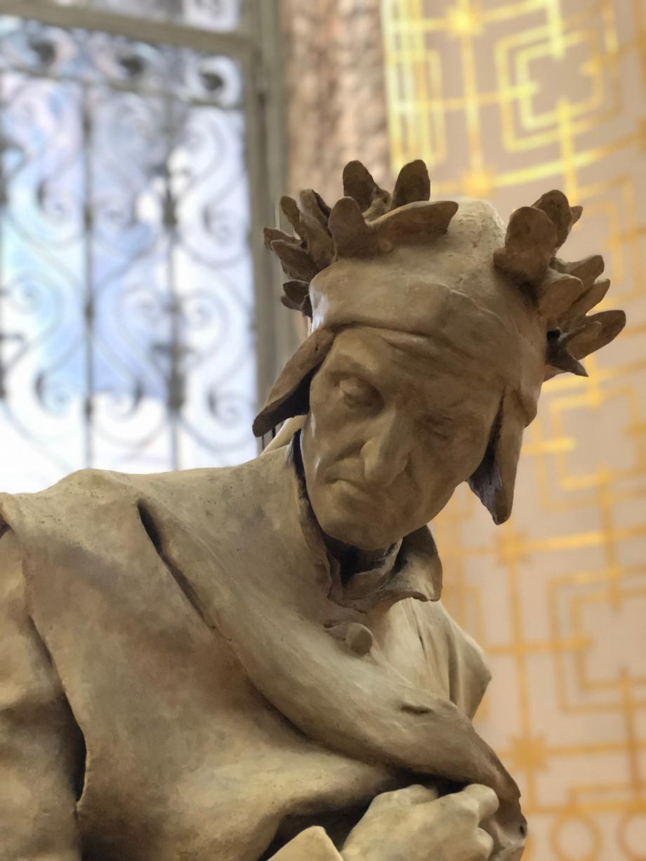 La ville de Paris a acheté ce modèle en plâtre pour faire une statue en bronze, toujours à son emplacement d'origine, place Marcelin-Berthelot, devant le collège de France
