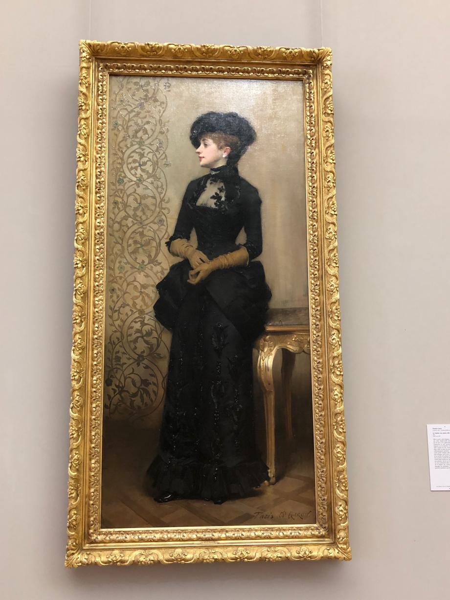 Charles Giron - La femme aux gants - 1883