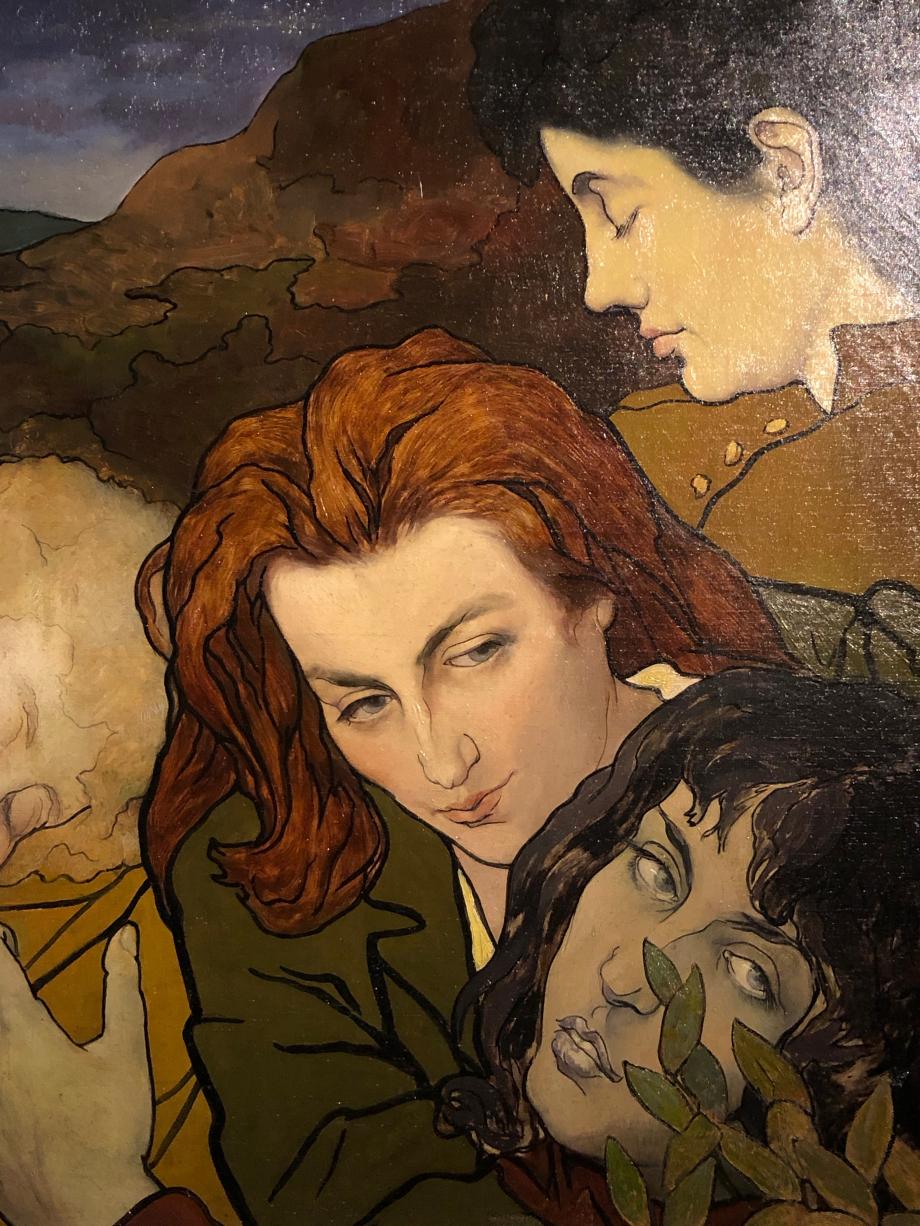 Charles Marin - Composition - vers 1892 - Musée d'Orsay La jeune fille rousse au milieu est la compagne et modèle favori du peintre