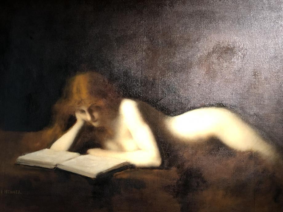 Henner - La femme qui lit dite la liseuse - salon de 1883 - Musée d'Orsay explication du musée sur la photo suivante