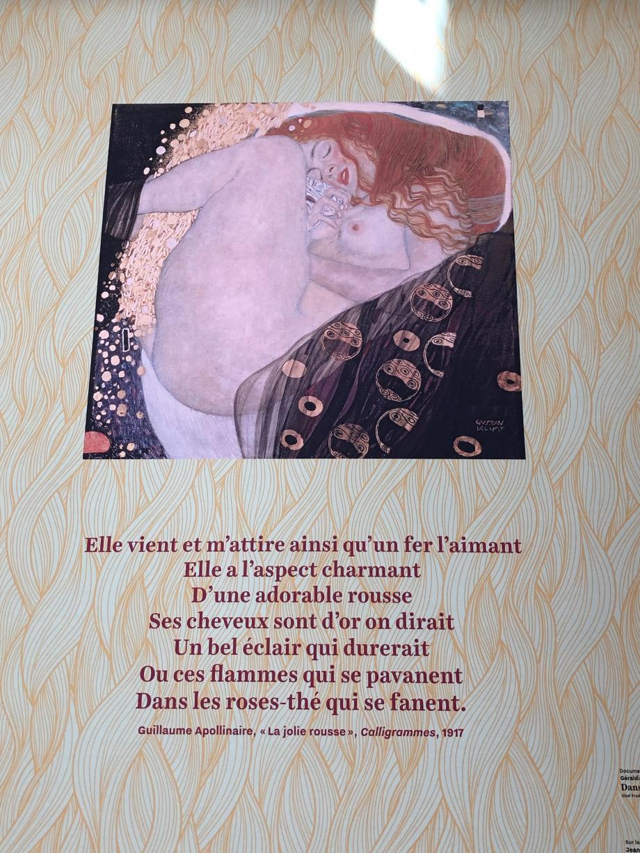 Photo : Danae de Guvtav Klimt - 1907 - Galerie Wurthle à Vienne en Autriche