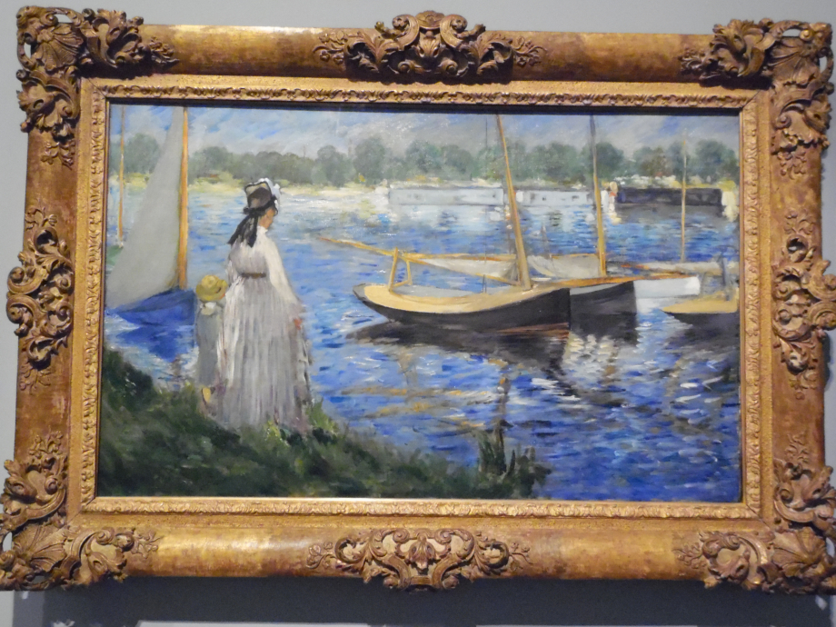 Edouard Manet Bords de Seine à Argenteuil, 1874 On peut y voir Camille, la femme de Manet et leur fils Jean