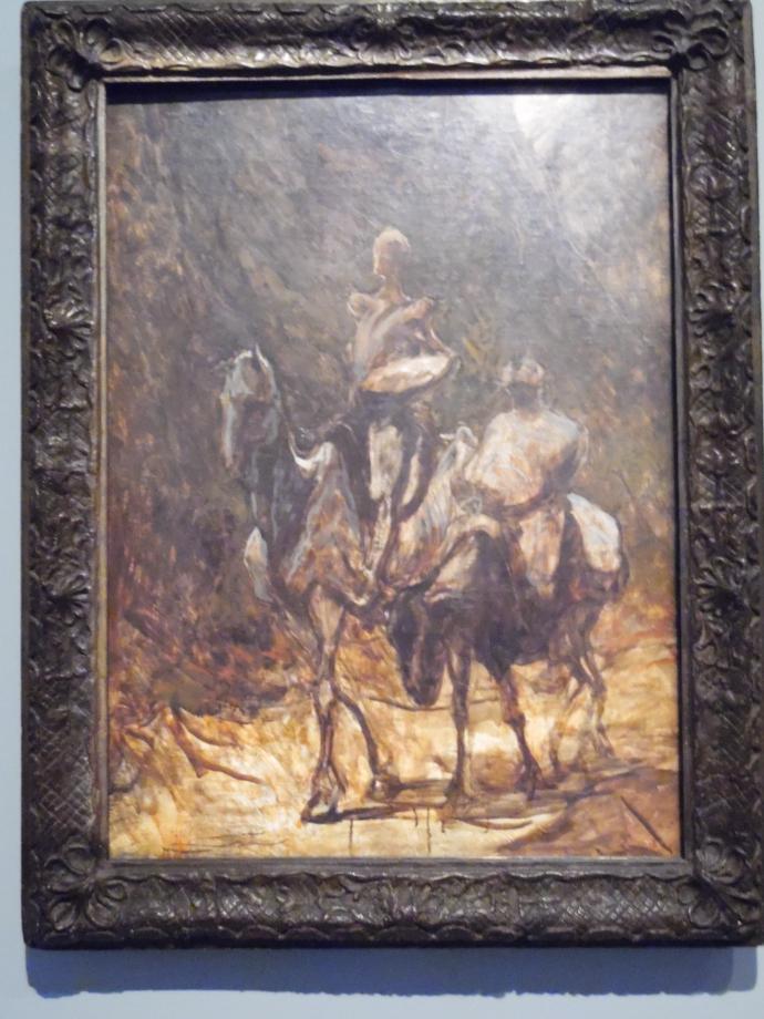 Honoré Daumier Don Quichotte et Sancho Panza vers 1870 Ce tableau est l'une des 20 oeuvres que Daumier a consacré à Don Quichotte