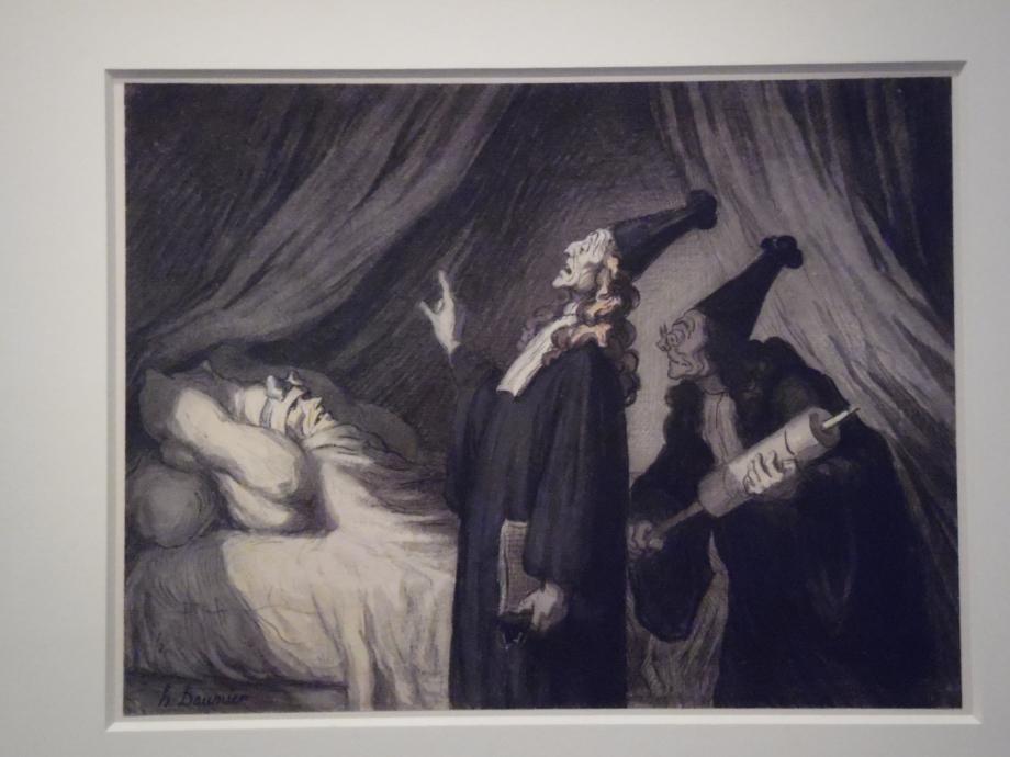Honoré Daumier Le malade imaginaire vers 1860 - 1870 Jolie seringue !!!