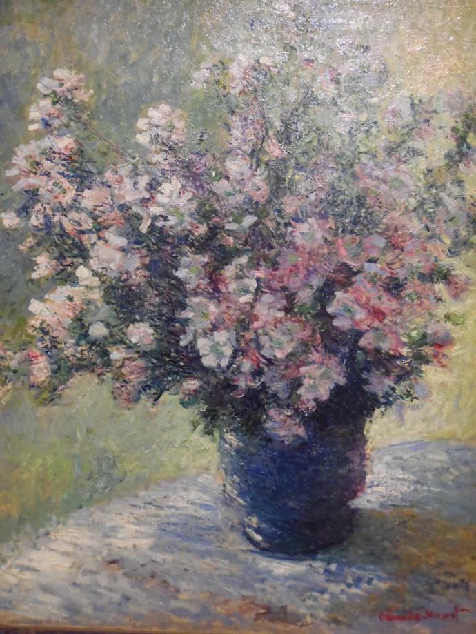 Claude Monet Vase de fleurs, commencé en 1881 Ce tableau donna du fil à retordre à Monet, il l'abandonna pendant 40 ans C'est la première peinture de Monet à entrer dans la collection Courtauld