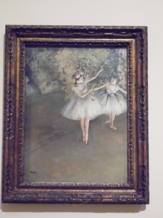 Edgar Degas Deux danseuses en scène, 1874