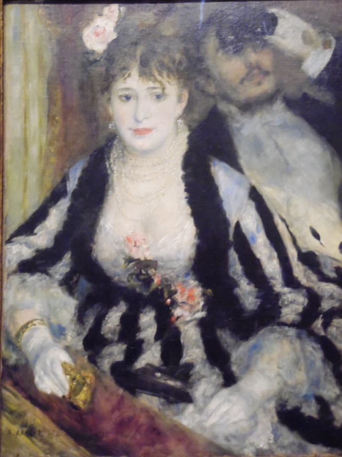 Pierre Auguste Renoir La loge, 1874 On peut y voir le frère de Renoir, Edmond, et le modèle Nini Lopez dite