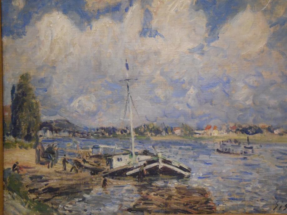Alfred Sisley Bateaux sur la Seine, vers 1875 1879