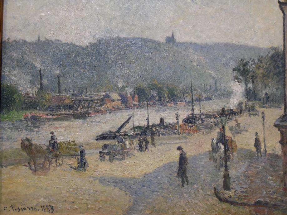 Camille Pissaro Place Lafayette, Rouen, 1883