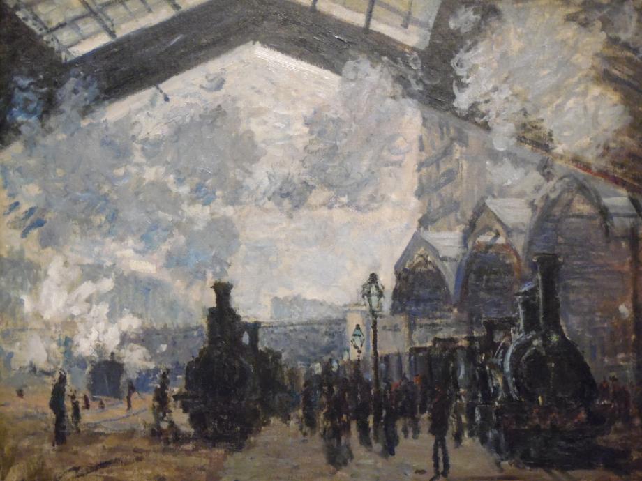 Claude Monet La Gare Saint-Lazare, 1877 The National Gallery, Londres Monet a fait