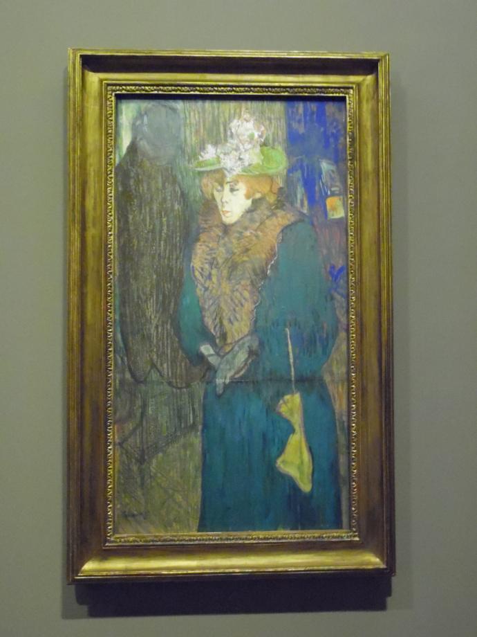 Henri de Toulouse-Lautrec Jane Avril à l'entrée du Moulin Rouge, vers 1892 Incroyable mais Jane Avril n'a que 20 ans quand Toulouse-Lautrec peint ce portrait