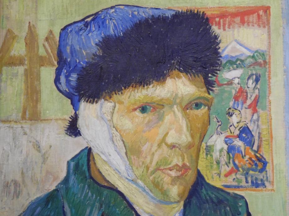Vincent Van Gogh Autoportrait à l'oreille bandée, 1889 Suite à un différent sur la peinture avec Gauguin, Van Gogh se coupe l'oreille. Il sera hospitalisé plusieurs semaines et Gauguin quittera Arles
