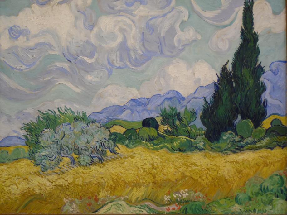 Vincent Van Gogh Champ de blé, avec cyprès, 1889 The National Gallery, Londres