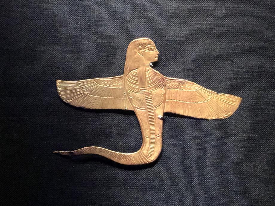 Uraeus à tête humaine muni d'ailes or