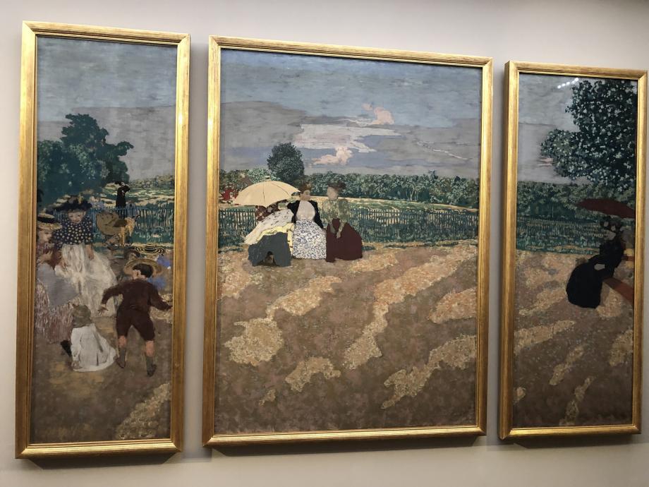 Edouard Vuillard - Jardins publics - 1894 - Musée d'Orsay Les Nourrices La Conversation L'Ombrelle rouge