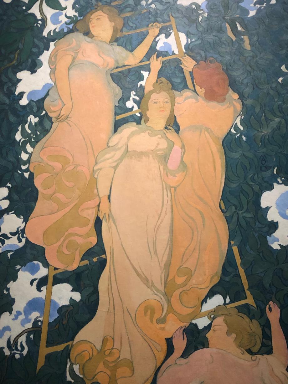 Maurice Denis Arabesque poétique dit aussi L'Echelle dans le feuillage 1892