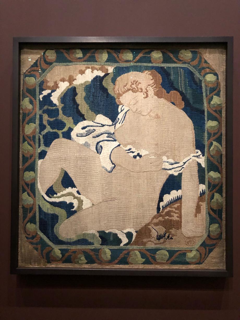 Aristide Maillol La baigneuse ou la vague 1896 - 1899 Tapisserie - Laine brodée au point d'Orient dit aussi point de majolique Musée Maillol