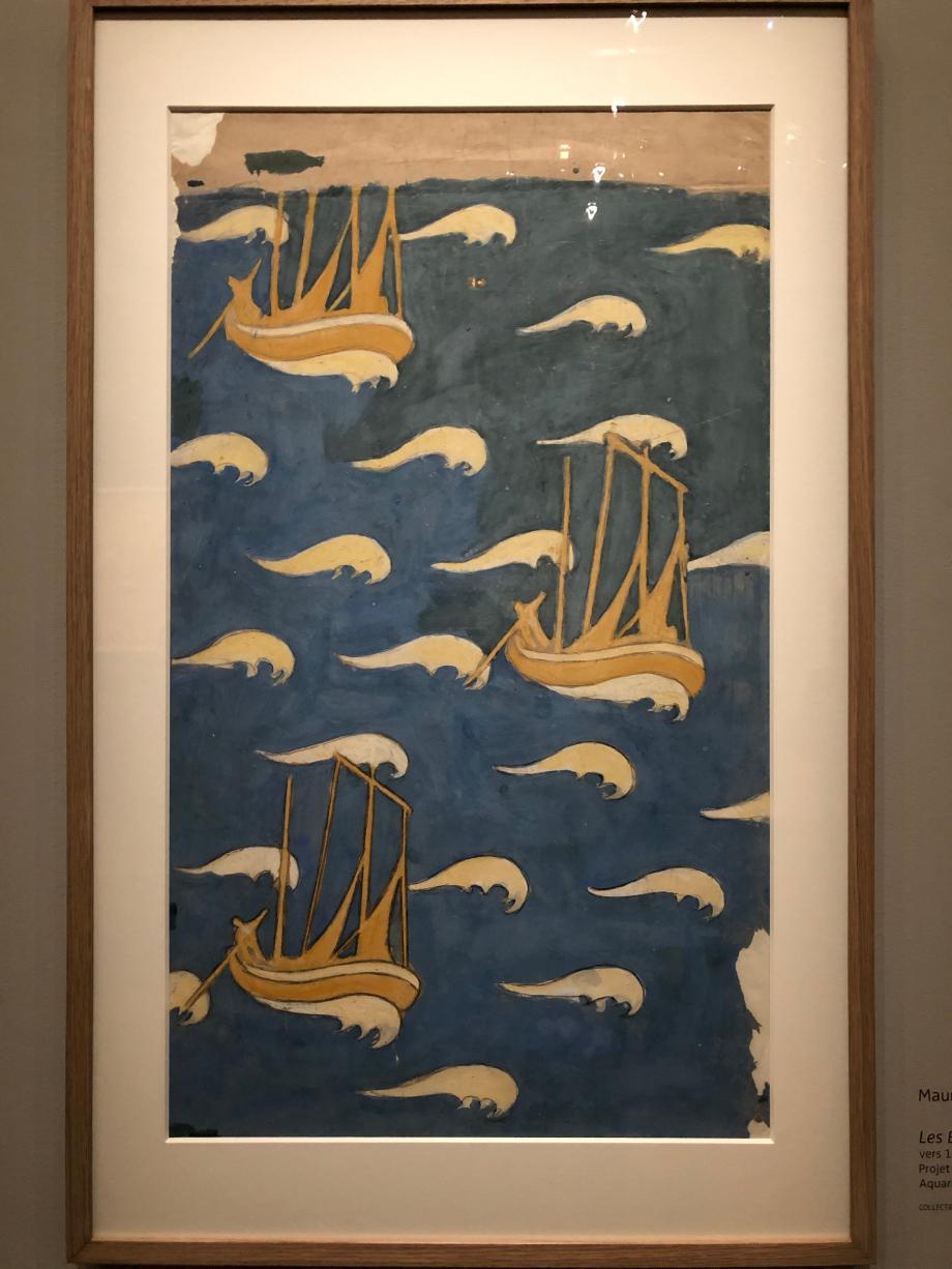 Projet de papier peint Maurice Denis Les bateaux jaunes vers 1893 Collection particulière