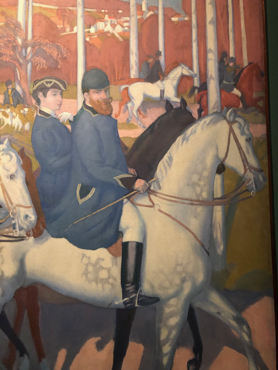 Maurice Denis La légende de Saint Hubert Le départ 1897 Musée départemental Maurice Denis, Saint-Germain-En-Laye