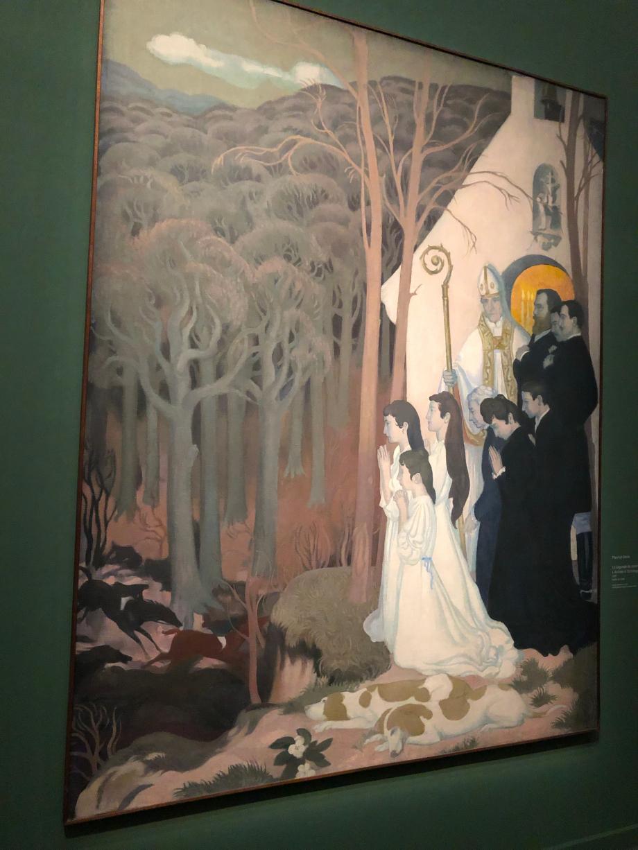 Maurice Denis La légende de Saint Hubert L'Arrivée à l'Ermitage 1897 Musée départemental Maurice Denis, Saint-Germain-En-Laye