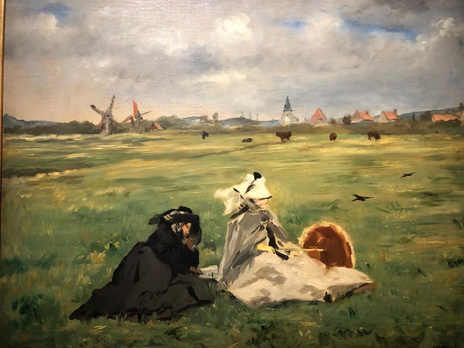 Edouard Manet Les Hirondelles 1873 On peut y voir la mère de l'artiste (en noir) et son épouse près de Berk-sur-Mer