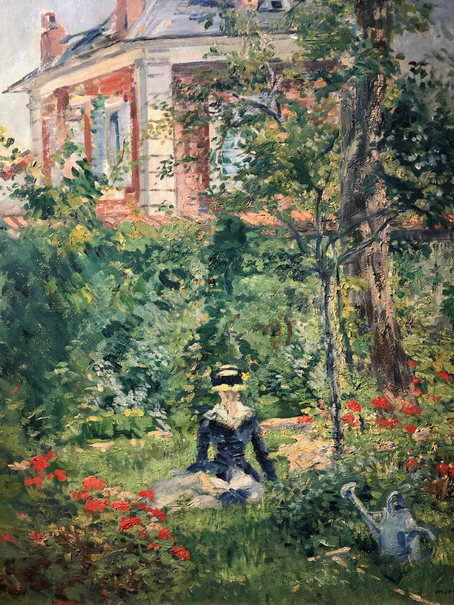 Edouard Manet Un coin du jardin de Bellevue 1880
