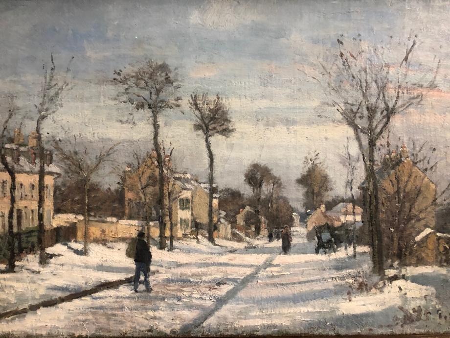 Camille Pissarro Route de Versailles, Louveciennes, neige 1870