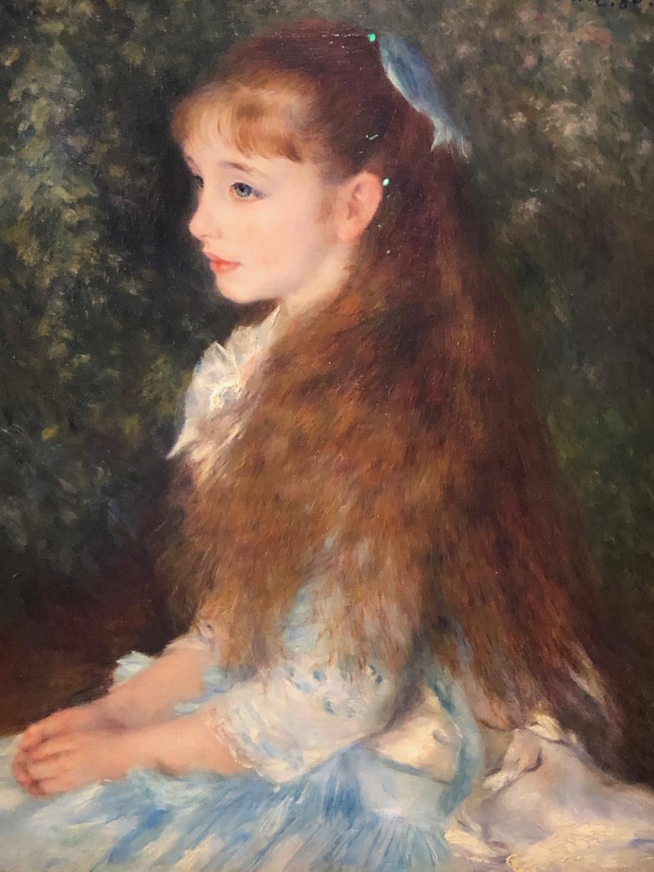 Détail de la Petite Irène Quelle jolie jeune fille Bührle acheta ce tableau à Irène elle-même
