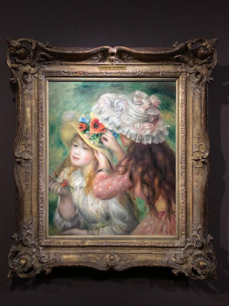 Auguste Renoir Les deux fillettes (le chapeau épinglé ou chapeaux d'été) 1893