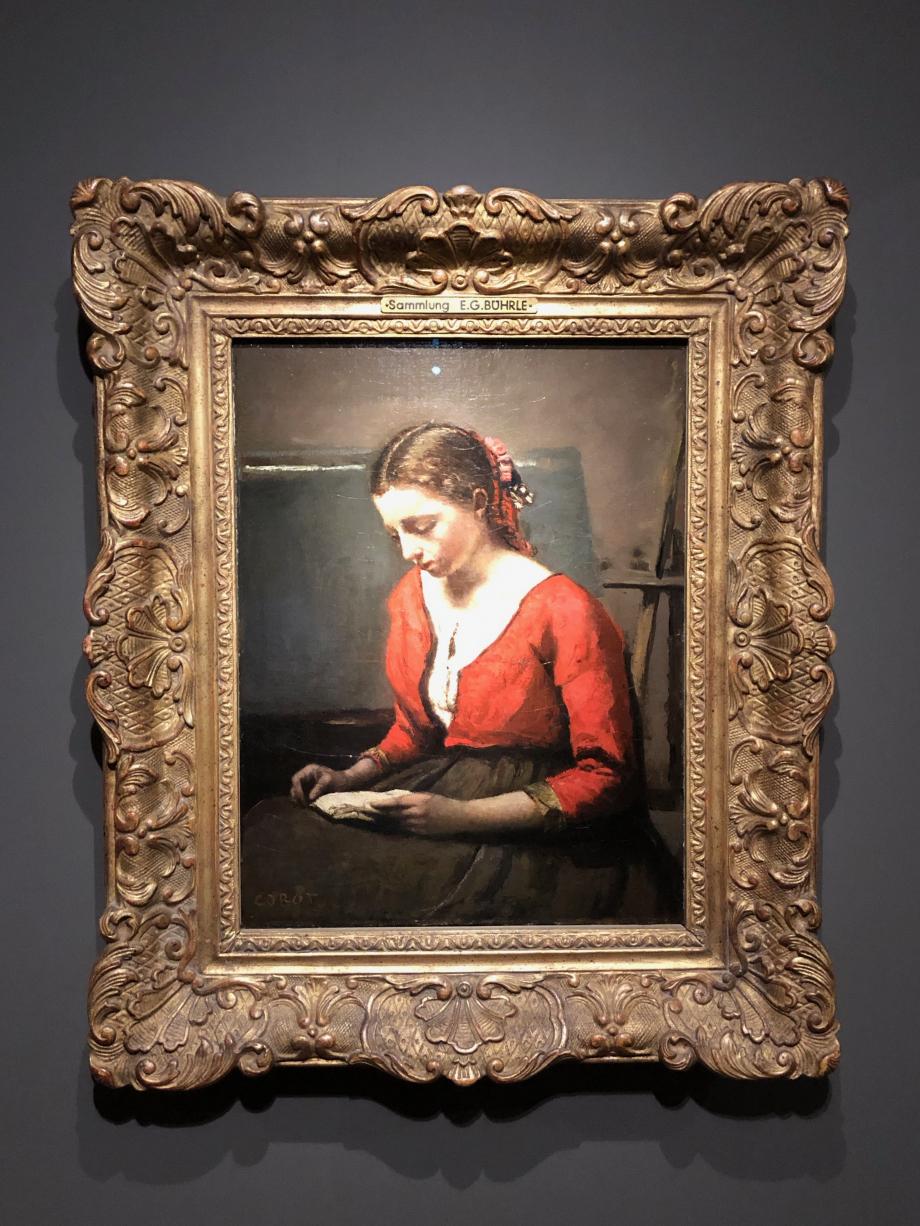 Camille Corot La Liseuse 1845/50