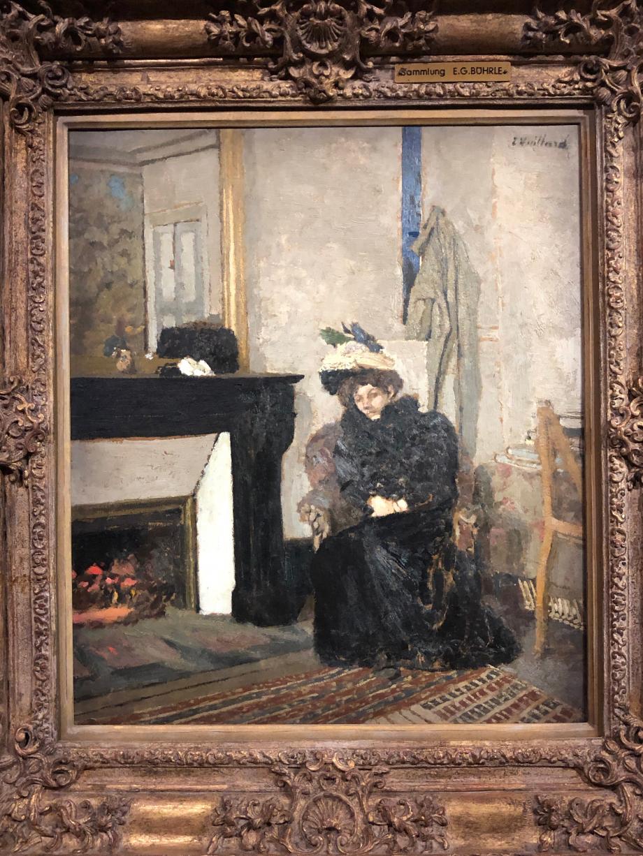 Edouard Vuillard La Visiteuse (Femme assise au coin de la cheminée) Vers 1900