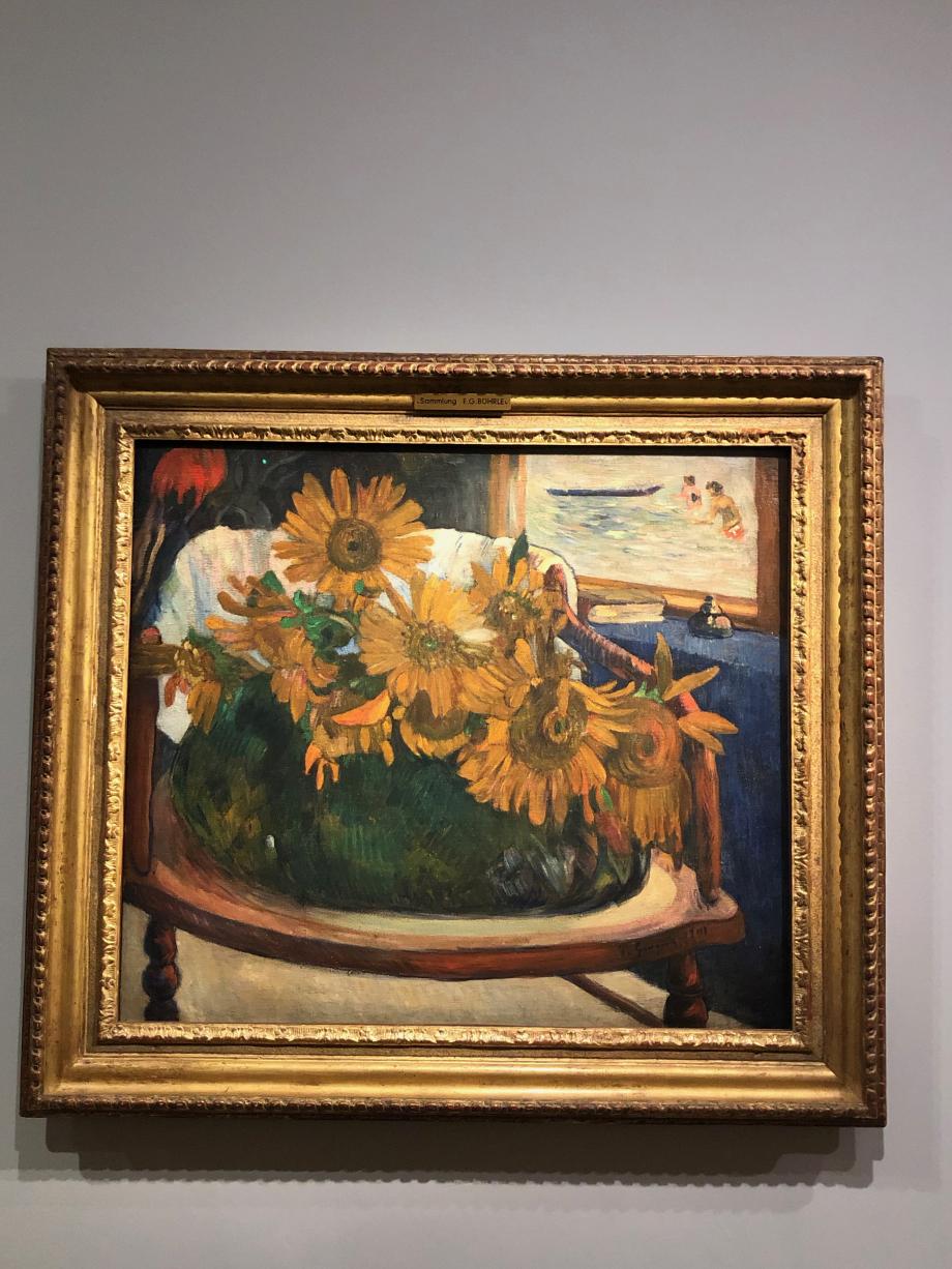 Paul Gauguin Tournesols sur un fauteuil 1901 Gauguin rend hommage à son ami Van Gogh avec ces tournesols