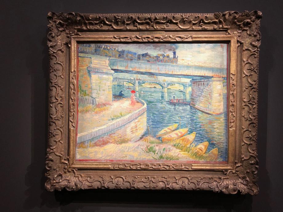 Vincent Van Gogh Les Ponts d'Asnières 1887