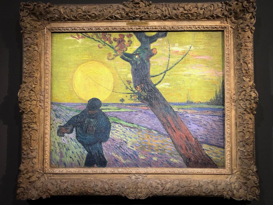 Vincent Van Gogh Le semeur, soleil couchant 1888