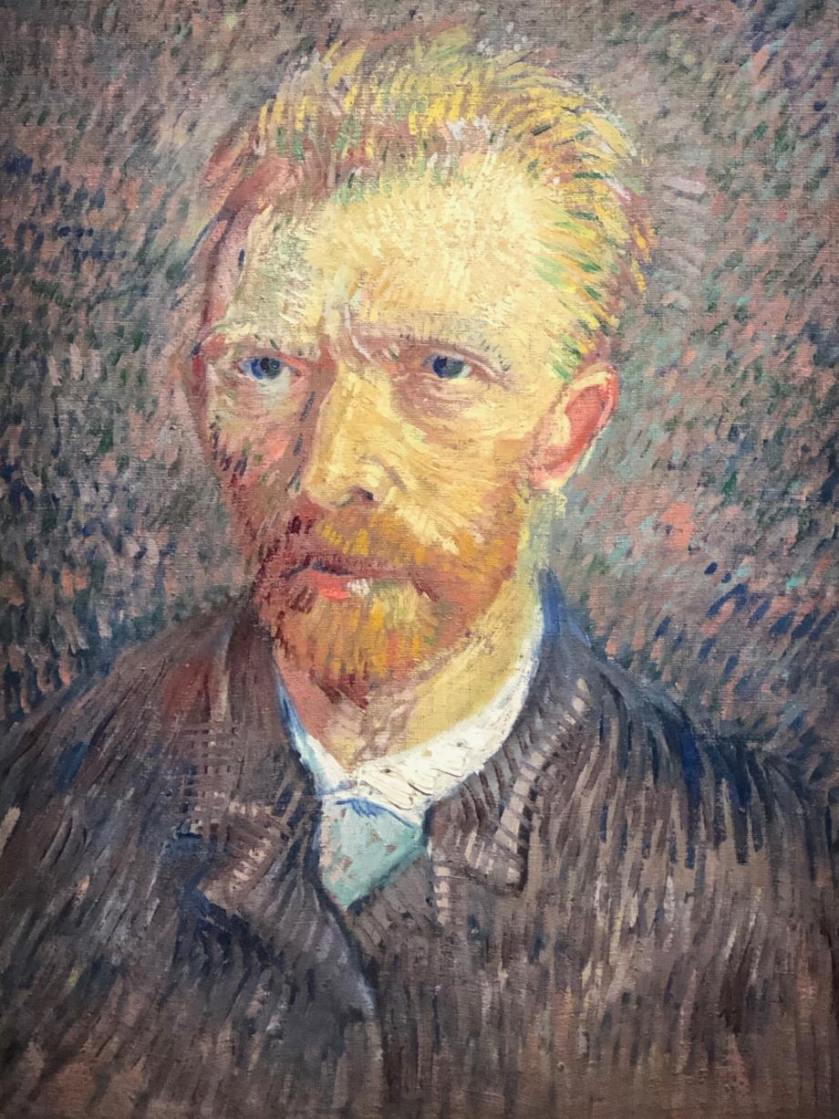 sur cet autoportrait, Van Gogh a seulement 34 ans  !!!